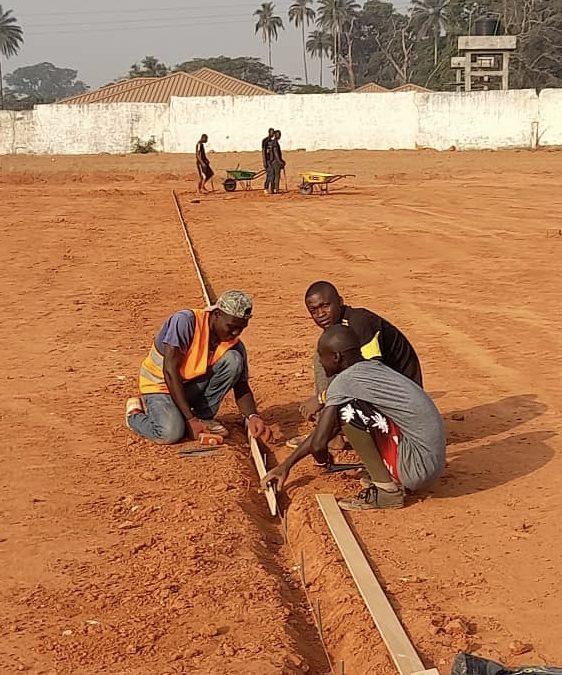 Reprise des travaux au Stade Fode Fissa de Kindia